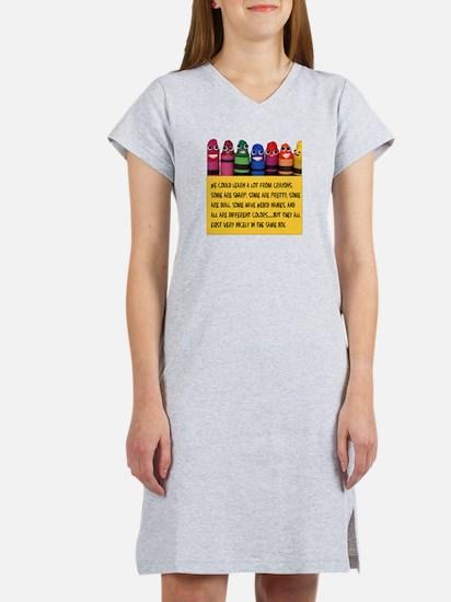 Peaceful Crayons Women's Nightshirt