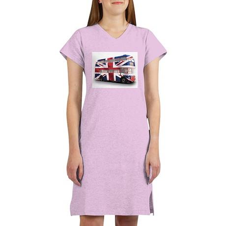 London Bus with Union Jack Women's Nightshirt