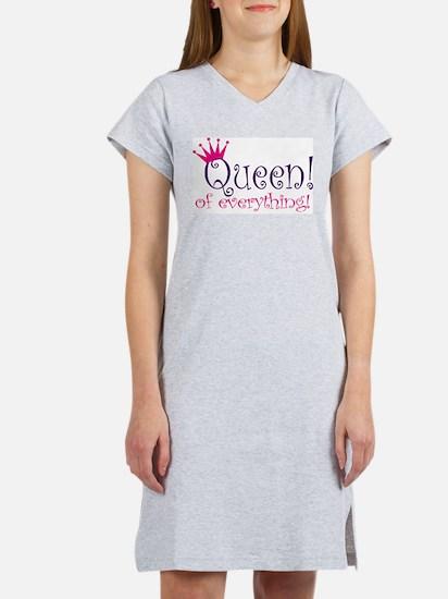 Queen of Everthing! Women's Pink Nightshirt