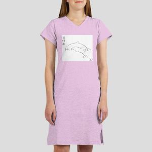 Brush Art Dolphins Women's Nightshirt