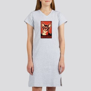 Obey the Abyssinian! Women's Nightshirt