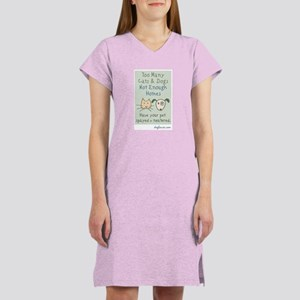 Not Enough Homes Women's Pink Nightshirt