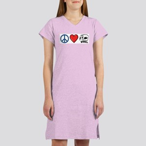 Peace Love & Camping Women's Nightshirt