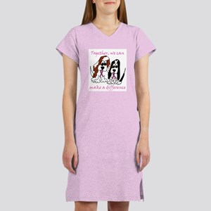The Basset Boys Wear Pink Women's Nightshirt