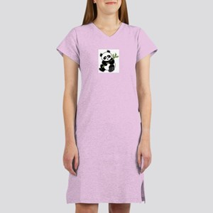 Sitting Panda Bear Women's Nightshirt