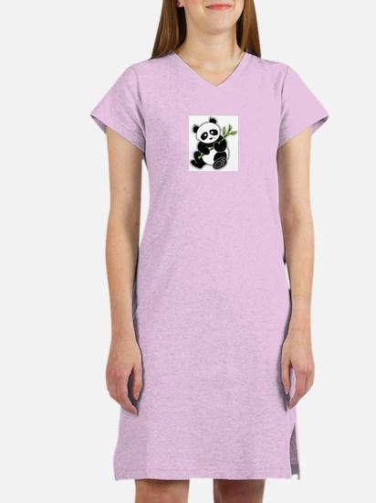 Sitting Panda Bear Women's Nightshirt