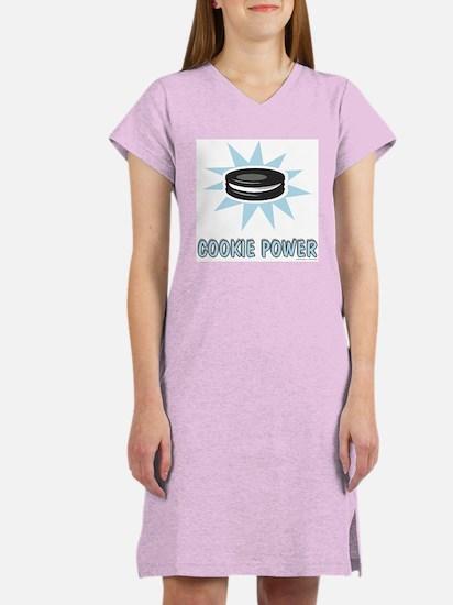 Cookie Power-1 Women's Nightshirt