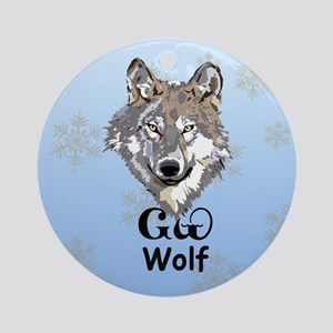 Cherokee Gray Wolf Christmas Ornament (Round)