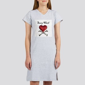 Saucy Wench Heart Women's Pink Nightshirt