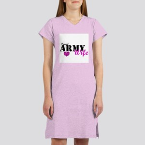 Army Wife Pink Women's Nightshirt
