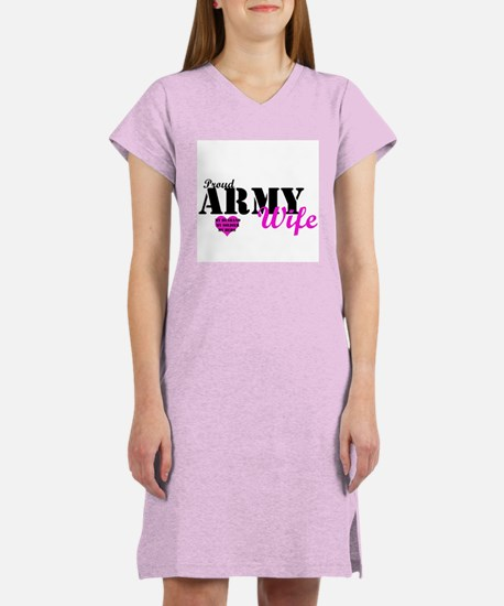 Army Wife Pink Women's Nightshirt