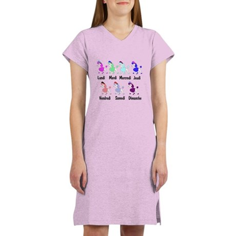 French Poodle Days Women's Nightshirt