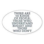 There are 10 kinds Sticker (Oval 10 pk)