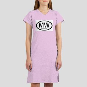 Midwife Black Oval Women's Pink Nightshirt