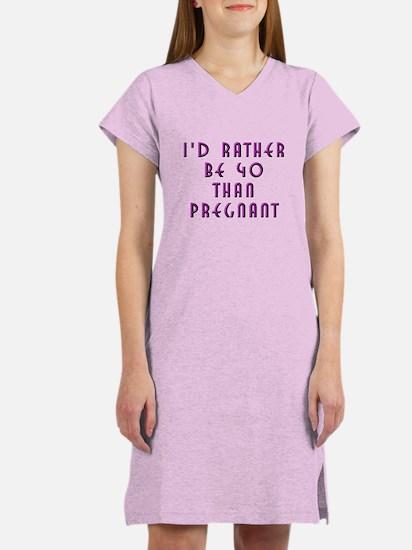 Rather be 40 Women's Nightshirt