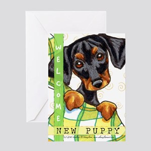 Dachshund New Puppy Congratulations Greeting Card