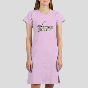 COPROLITE HAPPENS Women's Nightshirt