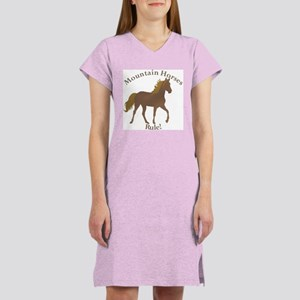Mountain Horses Rule! Women's Pink Nightshirt