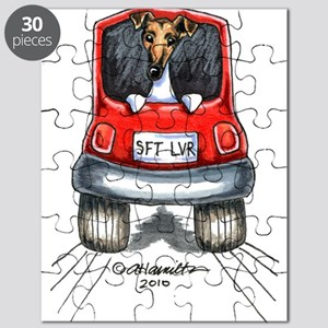 Smooth Fox Terrier Car Puzzle