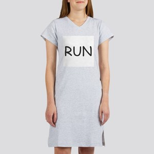 Run ... cannot help ourselves Women's Pink Nightsh