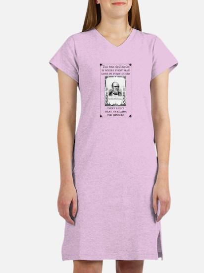 True Civilization Women's Nightshirt, Ingersoll