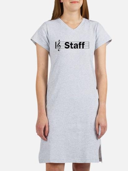 Music Staff Women's Nightshirt