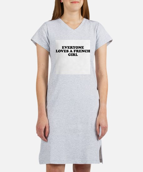 Everyone Loves French Girl Women's Pink Nightshirt