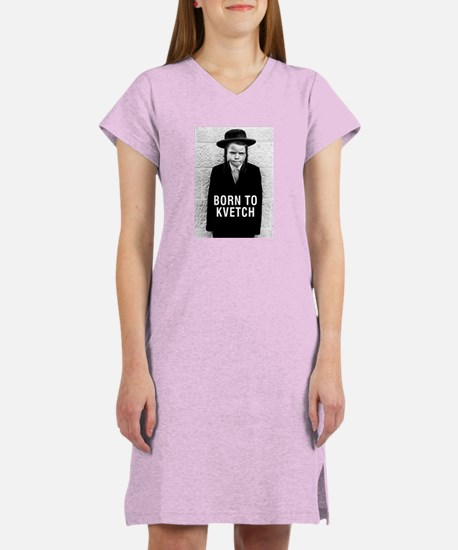 """Born to Kvetch"" cover Women's Nightshirt"