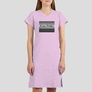 """Gray Pride"" Women's Nightshirt"