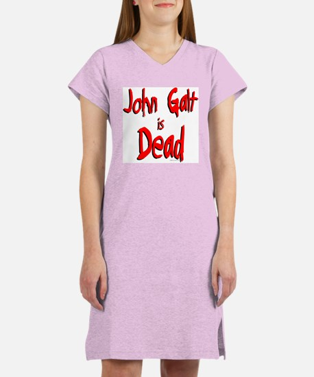 John Galt is Dead Women's Pink Nightshirt