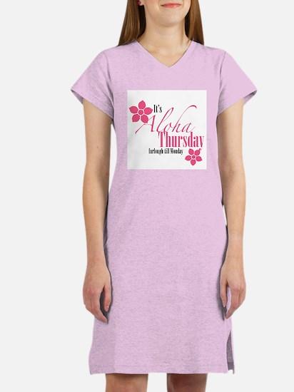 It's Aloha Thursday Floral Women's Nightshirt