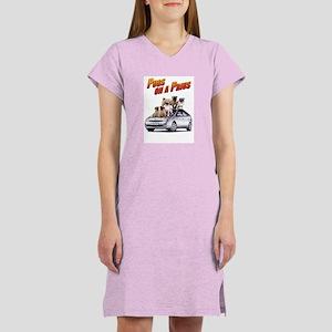 Pugs on a Prius Women's Nightshirt