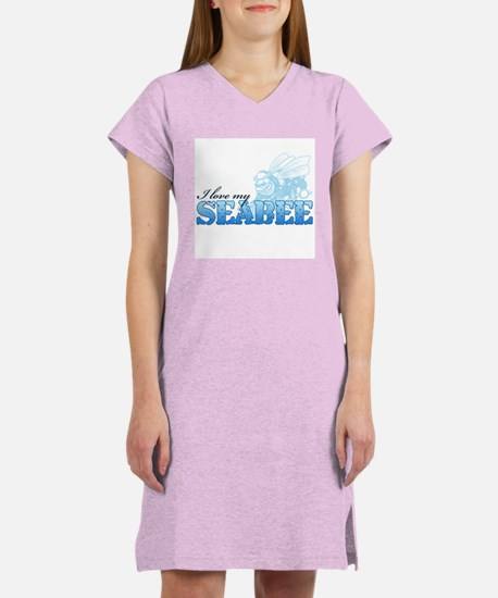 I Love My Seabee Women's Nightshirt