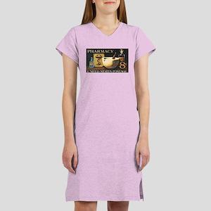 Pharmacy Stamp Women's Pink Nightshirt