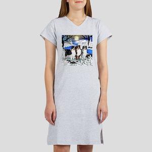 AUSTRALIAN SHEPHERD DOGS WINTER Women's Nightshirt