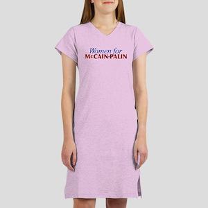 Women for McCain Palin Women's Nightshirt