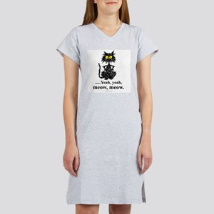 MEOW MEOW CAT - Women's Pink Nightshirt
