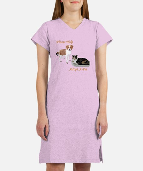 PLEASE HELP - ADOPT A PET Women's Nightshirt