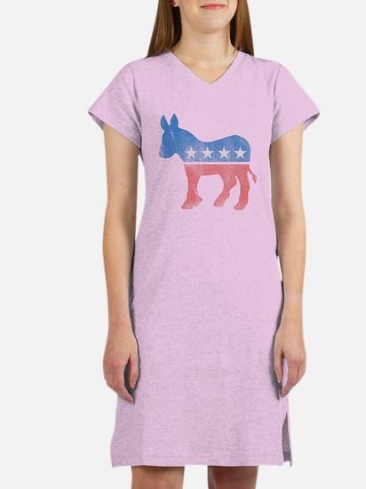 Democratic Donkey Women's Nightshirt