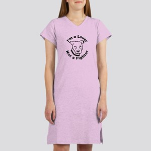 Lover, Not a Fighter Pit Bull Women's Nightshirt