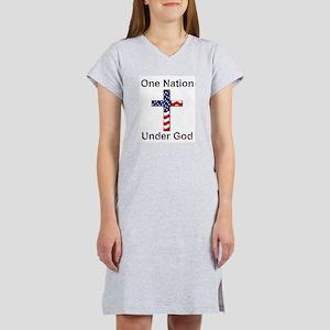 One Nation Under God Women's Pink Nightshirt