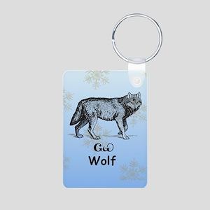 Cherokee Wolf Aluminum Photo Keychain