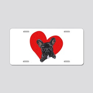 French Bulldog Love Aluminum License Plate