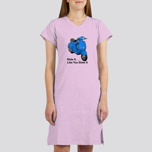 Vespa Scooter Ride It Women's Nightshirt