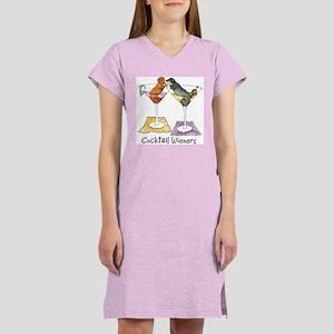 Double Cocktail Wiener Women's Nightshirt