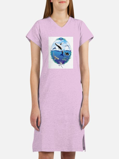 Cute Whale kid Women's Nightshirt