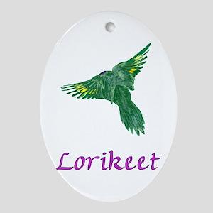 Lorikeet Flying Oval Ornament