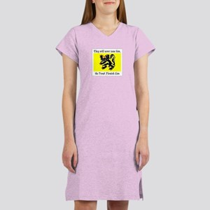 Proud Flemish Lion Women's Nightshirt