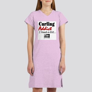 Curling Addict (Hit) Women's Nightshirt