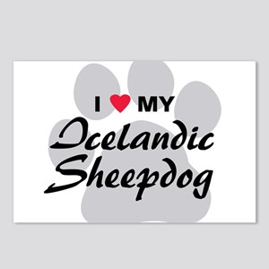 Love My Icelandic Sheepdog Postcards (Package of 8
